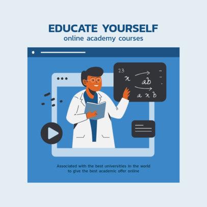 Instagram Story Generator Featuring Online Academic Classes Illustrations 2585c-el1