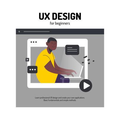 Instagram Post Maker Featuring an UX Design Class Illustration 2585d-el1