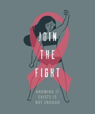 T-Shirt Design Design Maker Featuring an Illustration of a Woman Raising Her Fist 2820j