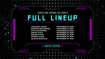 Twitch Banner Creator for an Online Music Festival's Schedule 2812c