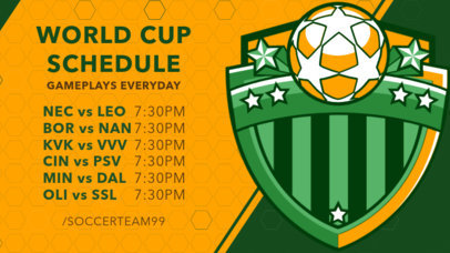 Twitch Banner Maker Featuring a Streaming Schedule for Soccer Gamers 2811d