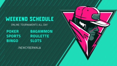 Twitch Banner Creator for a Gaming Tournament's Weekend Schedule 2811h