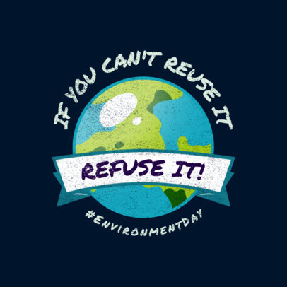 Logo Creator for an Environmental Cause Featuring an Earth Illustration 3575d