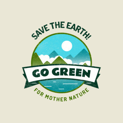 Logo Creator for a Nonprofit Organization with a Save the Earth Emblem 3575g