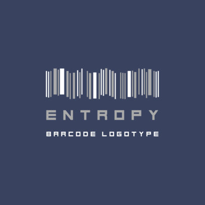 Logo Maker with the Graphic of a Soundwave-Like Bar Code 3572b