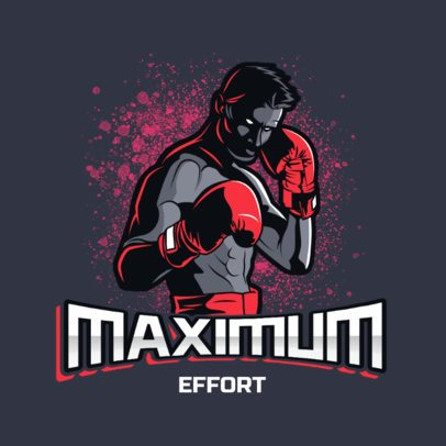 Sports Logo Template for Boxing Enthusiasts 3586