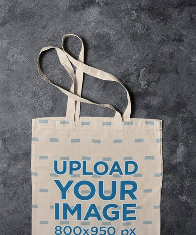 Mockup of a Sublimated Tote Bag Placed on a Marble Surface 41744-r-el2