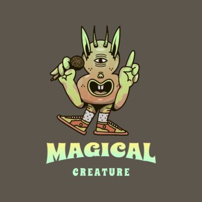 Logo Creator Featuring a Magical Creature Singing 3597d