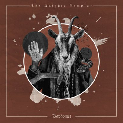 Album Cover Design Creator with a Dark Graphic of Baphomet 2606a