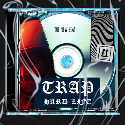 Trap Album Design Creator with a Scrappy Look 2843b