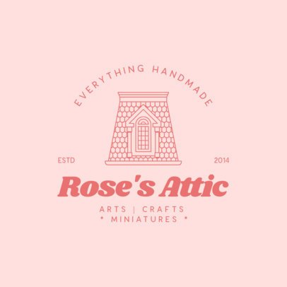 Logo Maker for a Craft Store Featuring a Graphic of an Attic 3605b