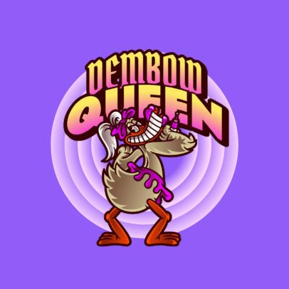 Logo Maker with a Retro-Looking Cartoon of a Female Duck 3599g