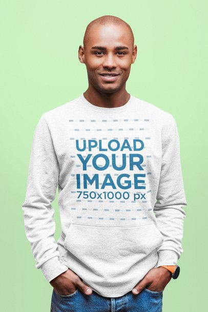 Heather Sweatshirt Mockup of a Relaxed Man Posing with His Hands in His Pockets 37670-r-el2
