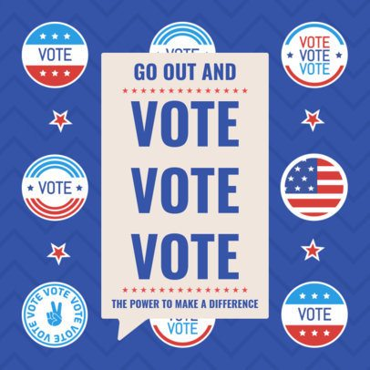 Instagram Post Maker for a Political Campaign Voting Promo 2875