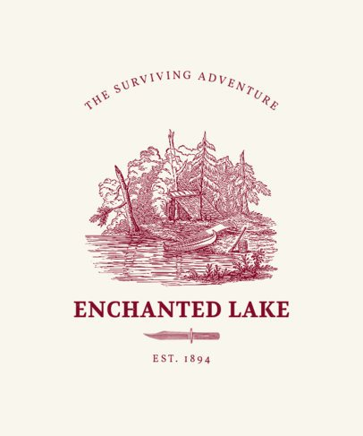T-Shirt Design Maker Featuring an Enchanted Lake Graphic 2622a-el1