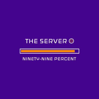 Logo Generator Featuring a 99% Loaded Progress Bar 3615b