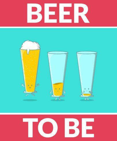 Cartoonish T-Shirt Design Maker for Beer Enthusiasts 2651-el1
