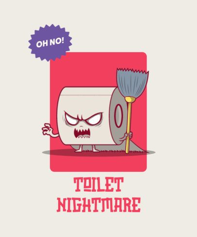Illustrated T-Shirt Design Creator with a Spooky Toilet Paper Graphic 2661c-el1