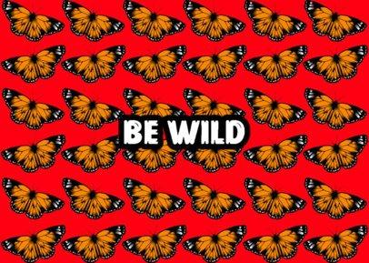 Face Mask Design Template Featuring Monarch Butterflies 2880a