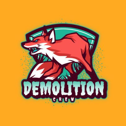 Gaming Logo Generator Featuring an Angry Fox Illustration 3620c
