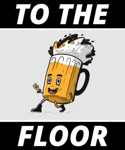 T-Shirt Design Generator Featuring a Dancing Beer Mug Cartoon 2651f-el1