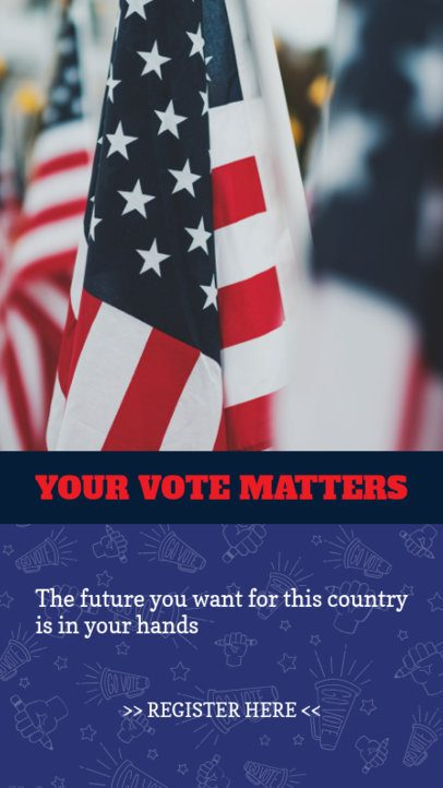 Instagram Story Generator Inviting People to Register and Vote 2876c