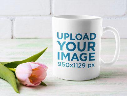 11 oz Coffee Mug Mockup Featuring a Tulip Flower 40996-r-el2