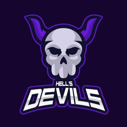 Skull-Themed Gaming Logo Template with a Demonic Clipart 2798d-el1