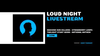 Twitch Banner Design Maker for a Music Concert Livestream 2740e-el1