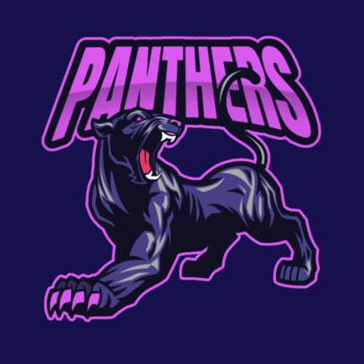 Team Logo Creator with a Fierce Panther Graphic 2786b-el1