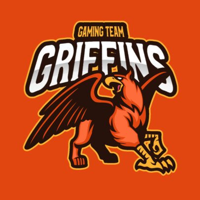 Gaming Logo Maker Featuring a Griffin Mascot 2786d-el1