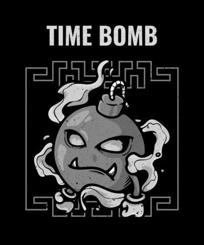 T-Shirt Design Creator with a Ninja Bomb Graphic 2768b-el1