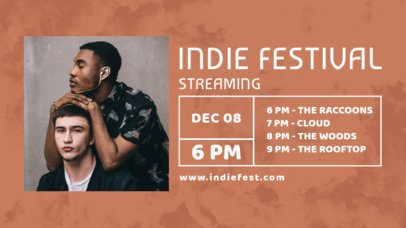 Twitch Banner Template for an Upcoming Indie Festival  2748a-el1