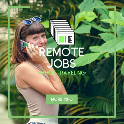 Ad Banner Generator for Remote Job Offers 2900i