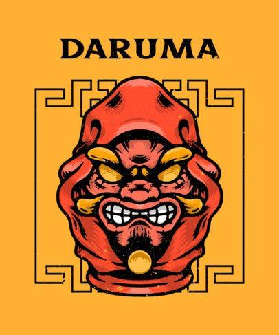 T-Shirt Design Generator Featuring an Evil-Looking Daruma 2768f-el1