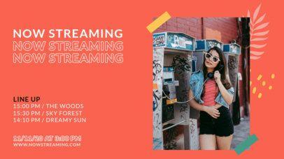 Twitch Banner Design Maker Featuring Live Stream Concerts Promo 2754-el1