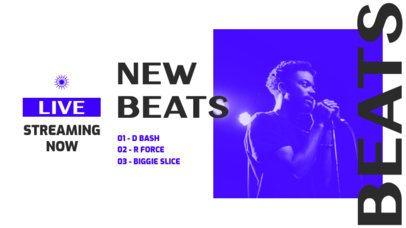 Twitch Banner Template for a Singer's Live Concert 2752d-el1