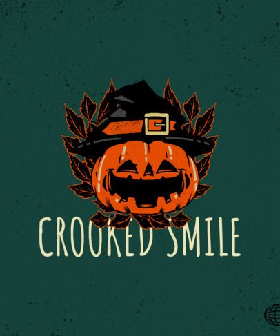 Vintage-Style T-Shirt Design Creator with a Smiling Halloween Pumpkin 2899b