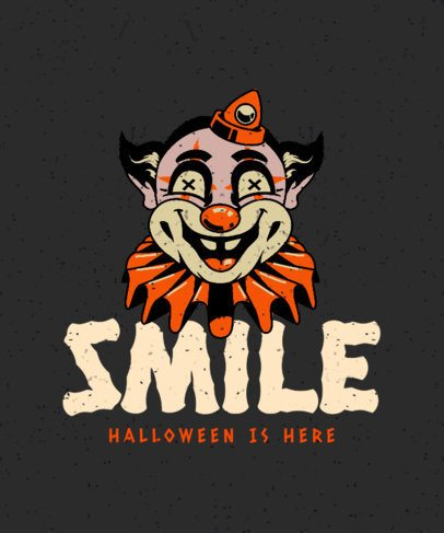 T-Shirt Design Generator with an Eerie Clown Illustration 2899d