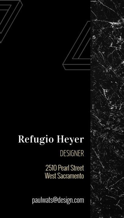 Elegant Vertical Business Card Template for a Designer 312e