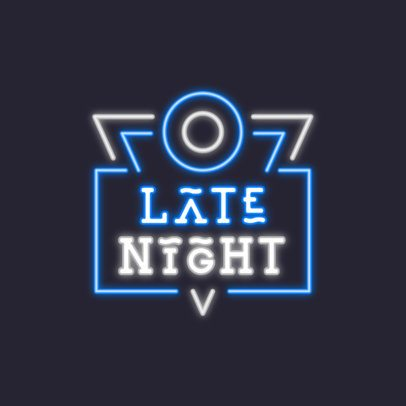 Simple Logo Maker for a Night Club with a Neon-Themed Graphic 3633g