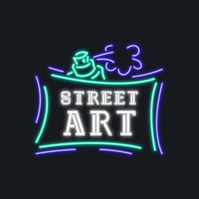 Logo Template for Street Art Enthusiasts Featuring Neon Typography 3633q