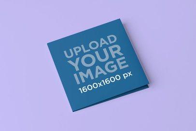 Digipak Mockup Featuring a Plain Color Background 4910-el1