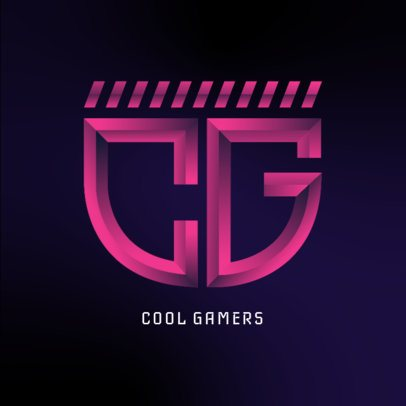 Gamer Logo Maker Featuring a Monogram with Neon Colors 3622h-3629