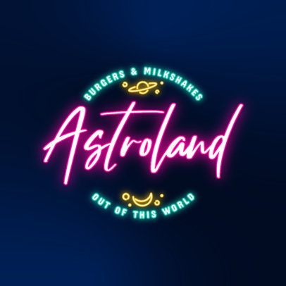 Online Logo Template Featuring Colorful Neon Texts 3632a