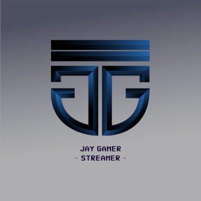 Logo Maker Featuring a Monogram for a Gamer 3622i-3629