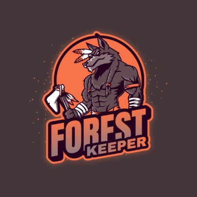 Fantasy Logo Maker Featuring a Forest Guardian 3639o