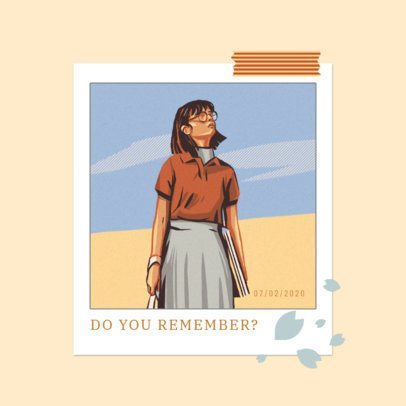 Lo-Fi Hip-Hop Album Art Template Featuring a Young Woman Illustration 3644f