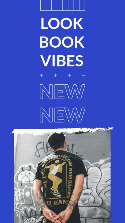 Instagram Story Design Template for a Music Merch Release Announcement 2866-el1