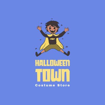 Kids Clothing Brand Logo Maker Featuring Joyful Cartoon Characters 3660